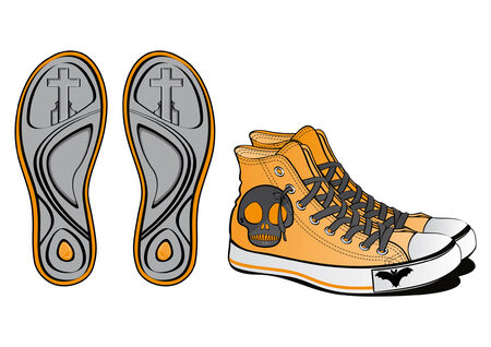 Pair of fancy shoes for Halloween  Illustration