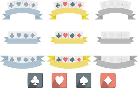 Poker symbols isolated on white background Illustration