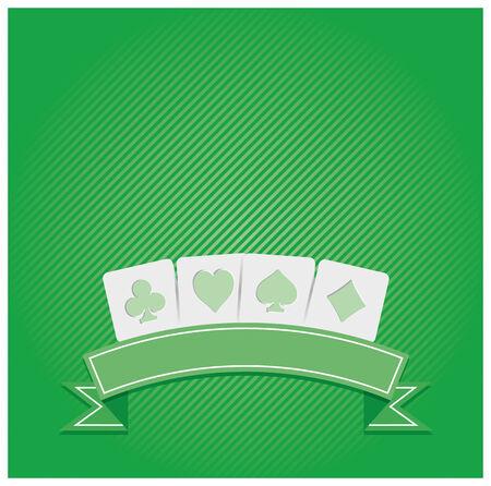Background of Poker symbols Illustration
