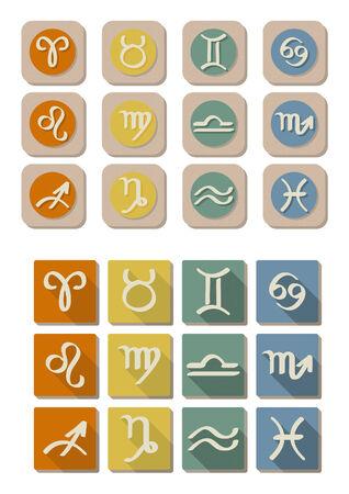 All Astrology symbol icon in flat design Illustration