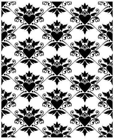 Pattern baroque with heart