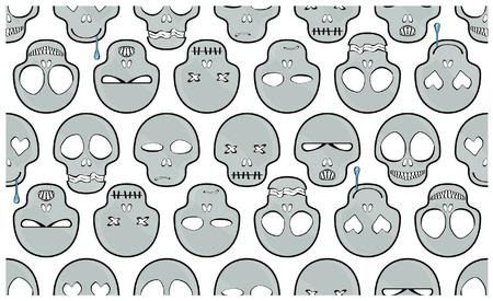 Pattern with skulls