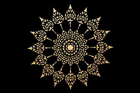 modello di stile tailandese tradizionale arte d'oro, arte decorate in tempio buddista