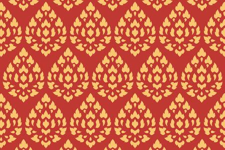 thai motifs: golden thai style pattern traditional art, art decorated in buddhist temple