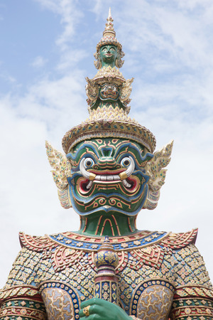 Green Giant in the Temple of the Emerald Buddha, Bangkok photo