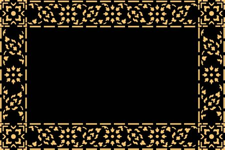 thai motifs: golden thai style pattern traditional art, art decorated in buddhist temple