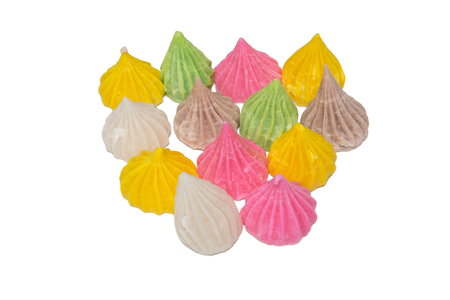allure: Pile of allure thai candy isolated on white background