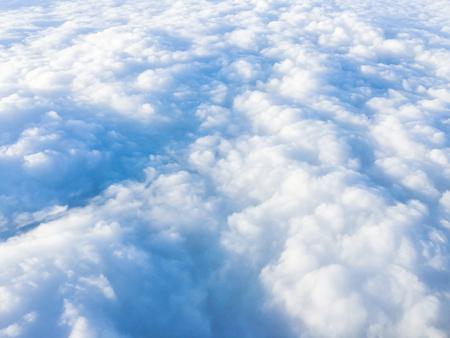Cloudscape. Blue sky and white cloud. Sunny day. Cumulus cloud Stock Photo