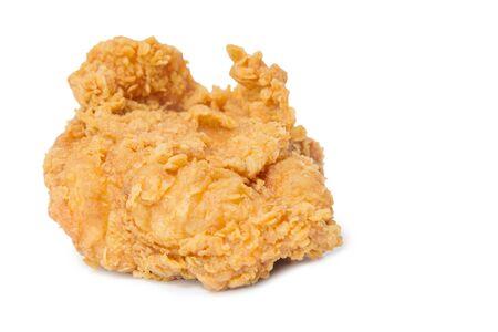 白い背景で隔離のフライド チキン