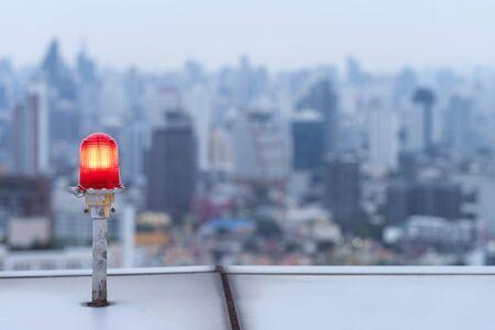 Emergency siren alert flashing light. Caution siren signal. Reklamní fotografie