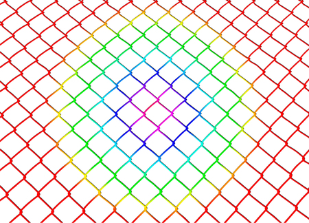 colored metal mesh illustration