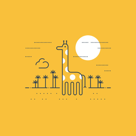 wildlife: African wildlife. A giraffe. Illustration