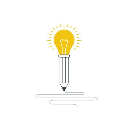 Creative thinking or writing. Storytelling concept. Illustration