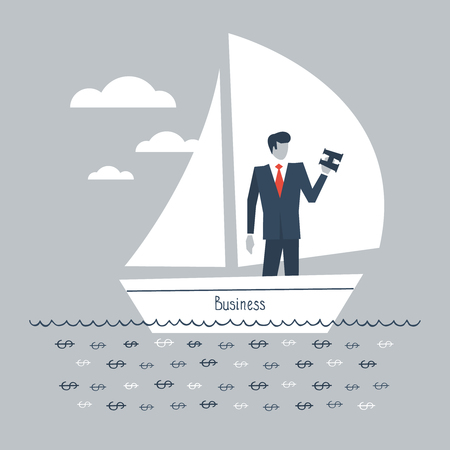 A metaphor of a business having enough of money support to be afloat and exist Illustration