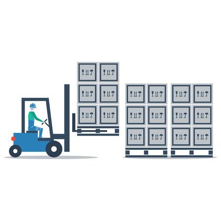 Auto chargeur de camion palette mobile