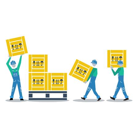 Storage workers Vektoros illusztráció