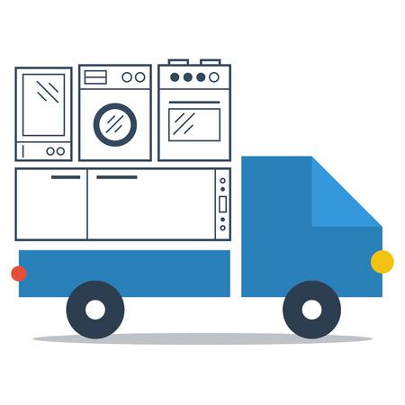 facilities: Facilities truck delivery