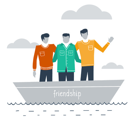confide: Best friends in a boat