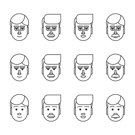 charismatic: Linear male head set