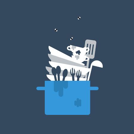 lavar trastes: Vajilla sucia