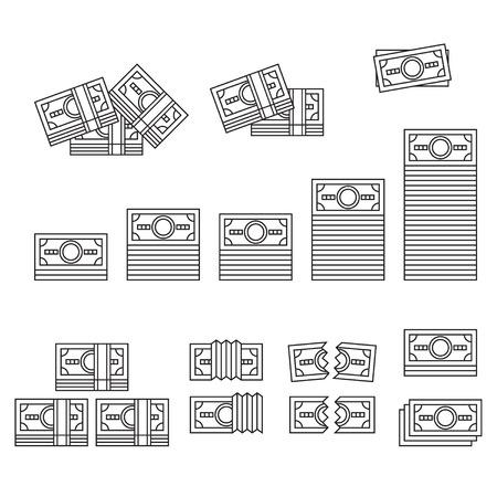 money bills: Linear banknotes