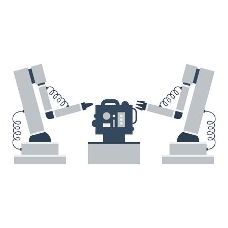 asamblea: montadores robóticos Vectores