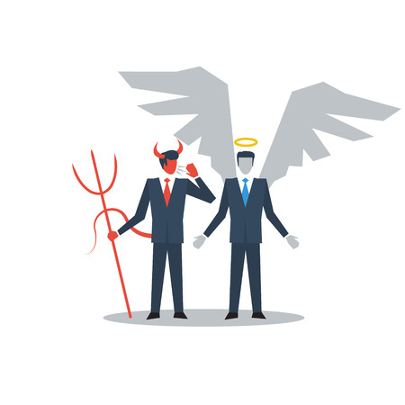 astray: Angel and devil managers Illustration