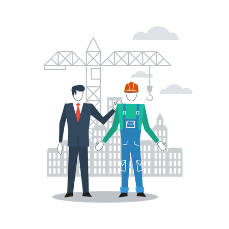Worker and manager communication Illustration