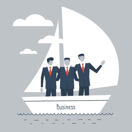 Ondernemers in een boot