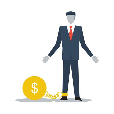 Having financial burden 矢量图像