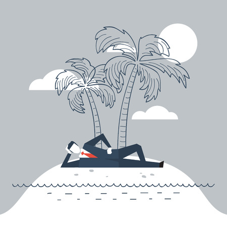 lounging: Illustration of a dream work. Escape from reality