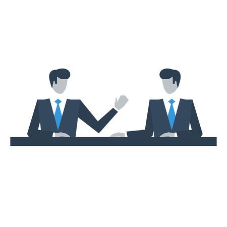 negotiating: Managers negotiating Illustration
