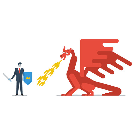 probation: Fighting a dragon Illustration