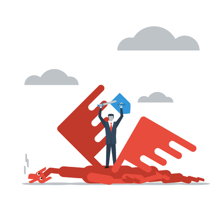 overcoming difficulties Illustration