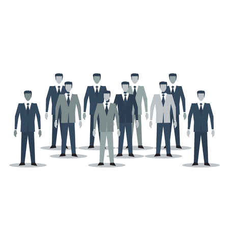 mob: A crowd of business men