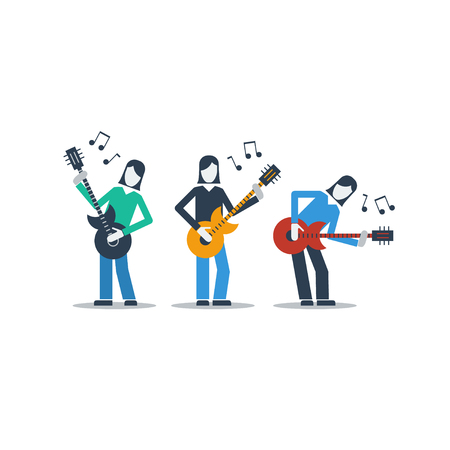 bard: A group of guitarists