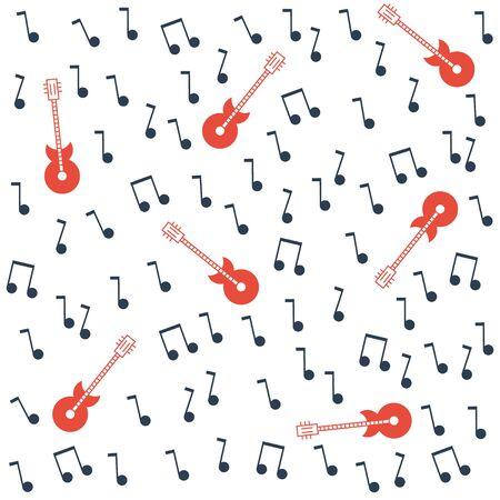 tunes: music seamless pattern