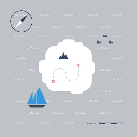 odyssey: treasure map Illustration