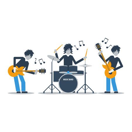 Banda de la música rock Foto de archivo - 49589555