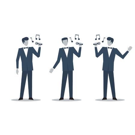 bard: Singer in suit illustration