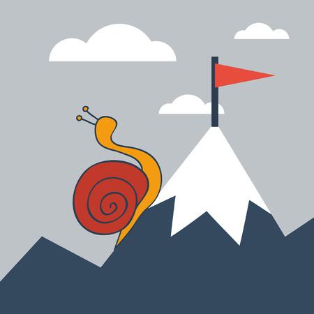 Reaching a goal  イラスト・ベクター素材