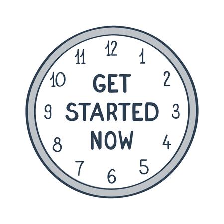commence: Get started now illustration