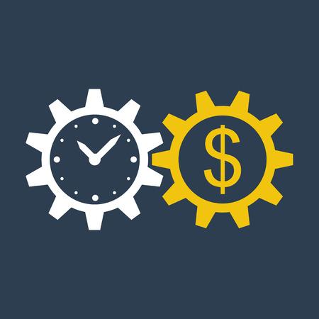money: el tiempo es dinero  Vectores