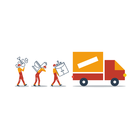 assembler: delivery services Illustration