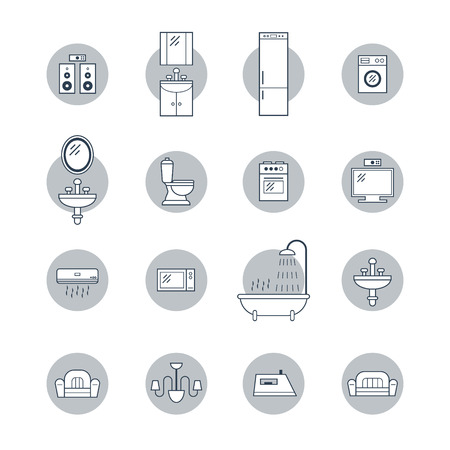 kitchen shower: Facilities icons