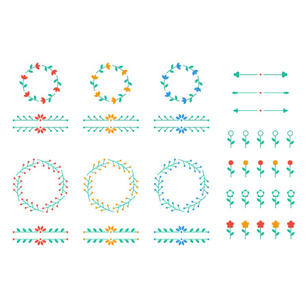 separators: Floral decor set