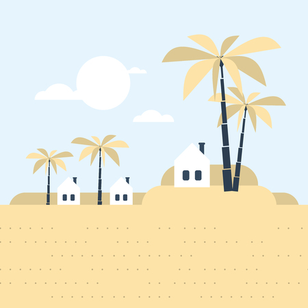 rural india: Small tribe. Tiny village in a hot southern land. Might be in Africa, Asia or Estland. Illustration