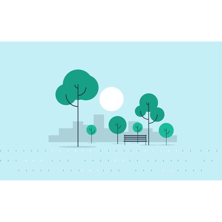 park bench: city park
