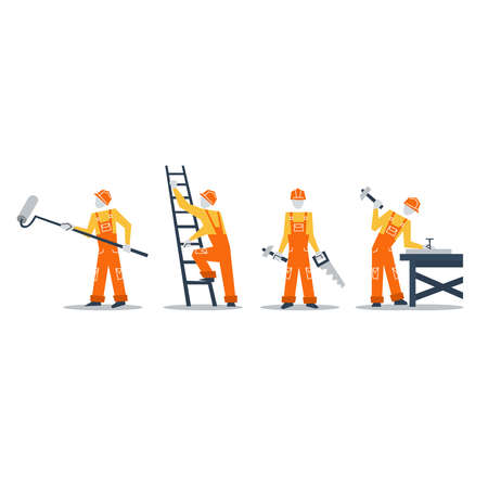 home improvement: Home improvement workers. Construction workers