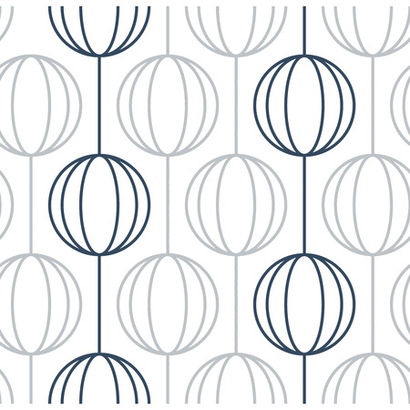 paper chain: Seamless pattern of ball chains. Can be used as wallpaper, wrapping, invitation cover